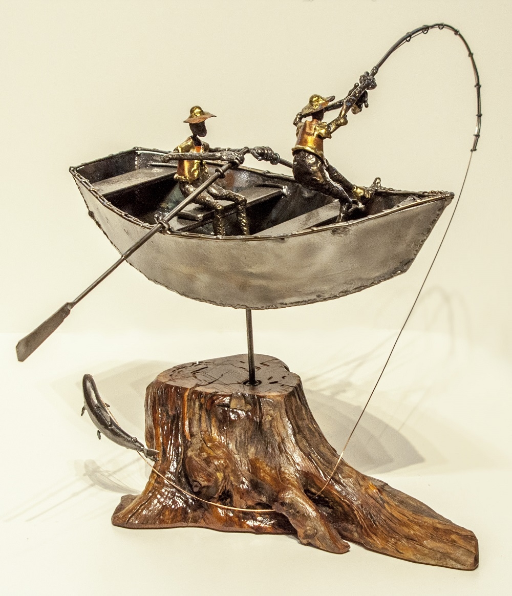 Dave Allred Sculpture Drift Boats